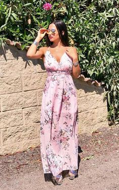 This dress delivers the MAXI-mum slay girl! This dress features a stretch bodycon lining, all over floral print, backless… Slay Girl, Floral Maxi Dress, Strapless Dress, Backless, Floral Prints, Chiffon, Pink, Dresses, Style