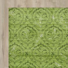 6 foot round bright-grass-green rug would work well in the nursery! Found it at Wayfair - Avignon Light Green Area Rug