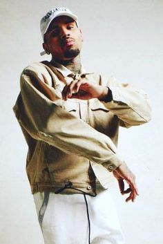 Chris Brown wearing Represent Distressed Denim Jacket