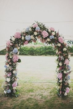 bohemian wedding Floral Arch Altar - Image by Anna Hardy Photography. - A Festival Inspired Bohemian Wedding With Wildflowers And A Floral Crown At Haslington Hall By Anna Hardy Photography. Arch Decoration, Flower Decorations, Wedding Decorations, Altar Decorations, Arco Floral, Floral Arch, Ceremony Arch, Wedding Ceremony, Wedding Arches