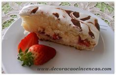 bolo de morango receita fácil