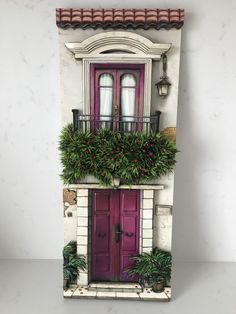 another example of the delightful detail to Diy Crafts Slime, Tile Crafts, Clay Crafts, Diy And Crafts, Miniature Rooms, Miniature Crafts, Miniature Houses, Clay Houses, Miniature Gardens