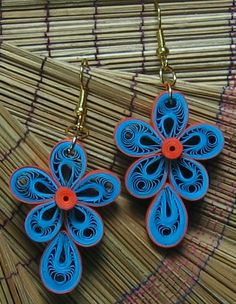 DAYDREAMS: Quilled earrings.