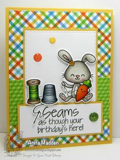 Sketch and Color Challenge 26    Your Next Stamp - YNS Supplies:  Sprinkles – Sew Cute   Sprinkles – Sew Cute Die Set   Stitched Rectangle Die   Give Thanks For Sparkle Gumdrops   Green Apple Glittered Gumdrops