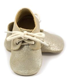 Another great find on #zulily! ELK Gold Shimmer Leather Oxford Bootie by ELK #zulilyfinds