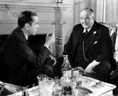"Humphrey Bogart and Sydney Greenstreet in ""The Maltese Falcon""."