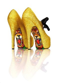 Taylor Says - Satin Bling (Gold) shoes - $327.00