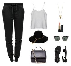 """""""Untitled #595"""" by patrisha175 ❤ liked on Polyvore featuring Givenchy, T By Alexander Wang, Old Navy, Lancôme, House of Harlow 1960, Ray-Ban and Lanvin"""