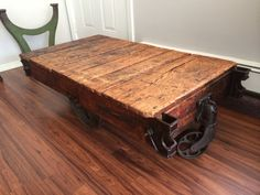 Vintage factory cart coffee table by AccardiCreativeWorks on Etsy