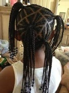 braided ponytail hairstyles for little black girls