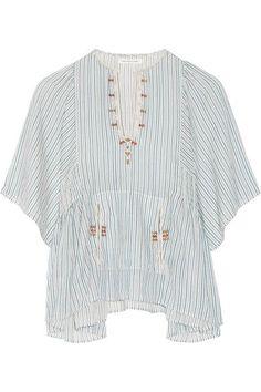 Étoile Isabel Marant   Joy embroidered striped cotton top   NET-A-PORTER.COM