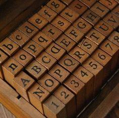 Alphabet Stamp Set - Vintage Stamp Set - Wooden Rubber Stamp Set - Letter Stamps - 70 pieces by WashiTapes on Etsy Vintage Stamps, Vintage Prints, Alphabet Stamps, Alphabet Soup, Handwriting Alphabet, Number Stamps, Wood Stamp, Letters And Numbers, Wooden Letters