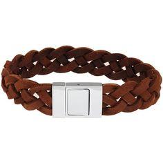 Leren armband Twisted Bruin - Heren sieraden