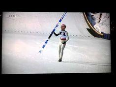 Ski-Jump - Einbeiniger Telemark - Manuel Fettner Skispringen Mannschaft Val di Fiemme 2013