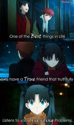 Ah! There isn't a word to describe this anime and their friendship!