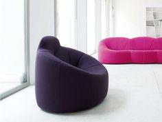 Fauteuil rembourré en tissu PUMPKIN by ROSET ITALIA design Pierre Paulin