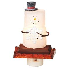 S'mores Snowman with Snowflake Christmas Night Light available @ CountryPorch.com