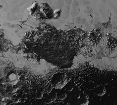 Crateri e formazioni rocciose di Plutone (NASA/Johns Hopkins University Applied Physics Laboratory/Southwest Research Institute)