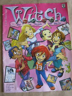 album de figurinhas witch, q vinha com a historia de todas elas
