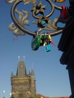 #Love locks in Malá Strana, #Prague, Czech Republic...why are the locks there