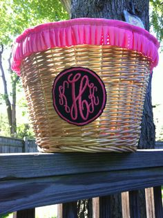 I might actually do laundry more if I had this monogrammed basket