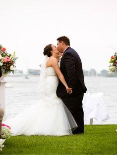 First Kiss as Newlyweds: Photo by Candace Jeffery Photography via Heather Renee Celebrations