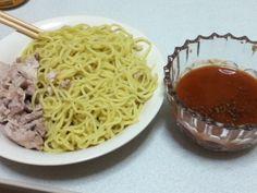 トマトつけ麺作った。美味しいよ普通に!つけダレも自分で作ったし!  *92