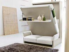 Canapé-lit contemporain escamotable. On aime bien cette combinaison chez Rangeocean. #lit