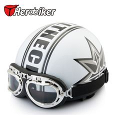 2016 Hot Sale Unisex free Shipping New Summer Vintage Motorcycle Helmets Open Face Half Motorbike