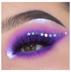 Purple Eye Makeup, Makeup Eye Looks, Colorful Eye Makeup, Eye Makeup Art, Crazy Makeup, Eyeshadow Makeup, Eyeliner, Fairy Makeup, Glam Makeup