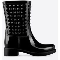 """New Black Rubber Rain Boots 1.5"""" block Heels Beautiful in black! These boots will keep you dry and trendy. Made of rubber, these boots are an instant fav. Shoes Ankle Boots & Booties"""