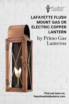 Accentuate your home with a modern style copper lantern. The Lafayette collection from Primo Gas Lanterns is a craftsmen style with exquisite detail. This beautiful fixture is available in gas or electric. Modern Lanterns, Gas Lanterns, Hanging Lanterns, Above Ground Pool Landscaping, Copper Lantern, Cigar Club, Gas Lights, Gas And Electric, Secret Places