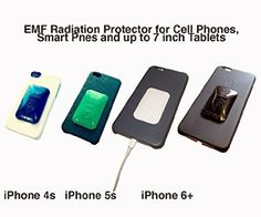 ONE Black Quantum EMF Radiation Harmonizer Protector Shield - Offers Complete Electro Magnetic Field (EMF) and Anti-Radiation Protection - Fits all cell phones plus iPhone Versions 4-6 - No Signal Interference - #1 Cell Phone Radiation Protection.