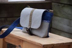 Kid  Toddler Messenger Bag  Blue Zigzag Stripes by ThePierMarket