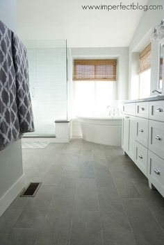 Master Bathroom Remodel our bathroom foot print...like the tub how it's angled a bit might limit us on size of tub