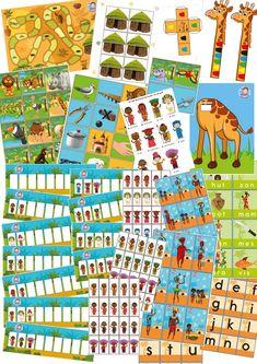 spellen, spellenpakket Afrika, kleuteridee.nl