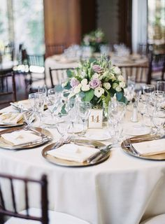 Featured photographer: Sposto Photography; wedding centerpiece table
