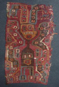 Paracas tapestry fragment, Paracas Necropolis, Peru, 600-900.