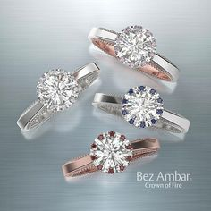 I love everything about these rings. Probably my favorite design and shape!!! I love round, radiant and cushion cut