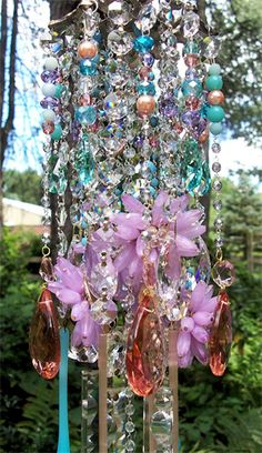 Colorburst Antique Crystal Wind Chime | Sheris Crystal Designs