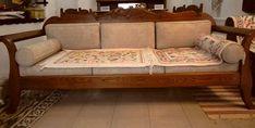 παραδοσιακός καναπές από ξύλο δρυς / traditional greek sofa / handcarved / unique design Couch, Furniture, Home Decor, Settee, Decoration Home, Sofa, Room Decor, Home Furnishings, Sofas