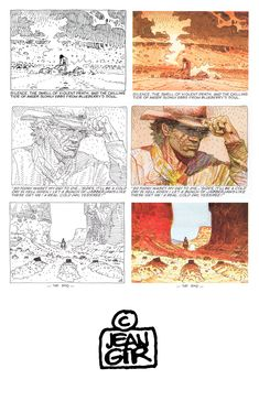 aapstra — Three Black Birds by Jean 'GIR' Giraud. Comic Book Pages, Comic Books Art, Comic Art, Moebius Art, Western Comics, Comic Book Collection, Jean Giraud, Book Of Kells, Encaustic Painting