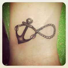 mother & daughter tattoo. anchor: over the years refusing to sink and give up after all me and my mother have been through rope: the rope is the unending love that has held us together through it all