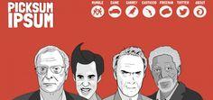 Ferramenta para web designers ganha uma forcinha de Clint Eastwood, Michael Caine, Jim Carrey e Morgan Freeman