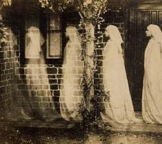 Anonymous, The ghost of Bernadette Soubirou, Albumen silver print Bernadette Soubirou, Bernadette Lourdes, Ghost Photography, Spirit Photography, Vintage Photography, White Photography, Horror Photography, Inspiring Photography, Monochrome Photography