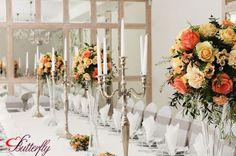 dekoracja ślubna łosoś