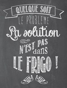 la solution non... la consolation éphémère parfois...