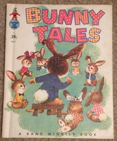 Bunny meeting, vintage find. andrea turk