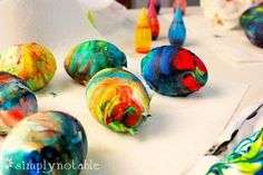 DIY Easter : DIY Dyed Easter Egg Roll