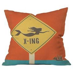 I pinned this DENY Designs Mermaid X-ing Pillow by Anderson Design Group from the Pillow Talk event at Joss and Main! Modern Throw Pillows, Outdoor Throw Pillows, Decorative Throw Pillows, Floor Pillows, Accent Pillows, Kitsch, For Elise, Pillow Talk, Pillow Fight